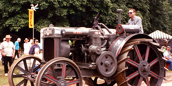 Norm driving Case tractor.